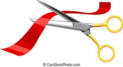 Scissors, cut the red tape.