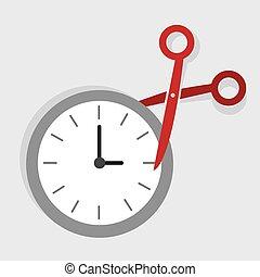 Scissors Cut Time - Scissors cutting time in half