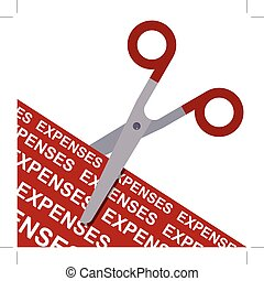 scissors cutting expenses concept