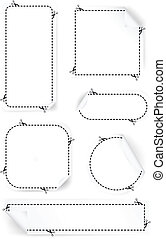 Scissors Cutting Out Coupons. Vector set