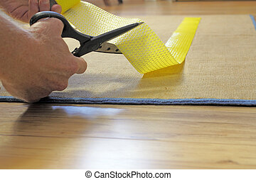 Scissors Cutting Rug Grip Tape