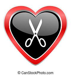 scissors icon cut sign