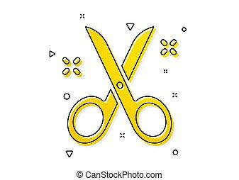 Scissors icon. Cutting tool sign. Tailor utensil. Vector