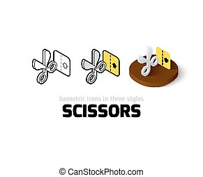 Scissors icon in different style
