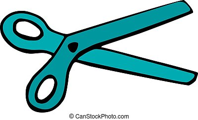 Scissors icon isolated on white background