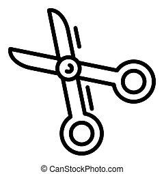 Scissors icon, outline style