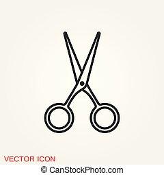 Scissors icon vector sign symbol for design