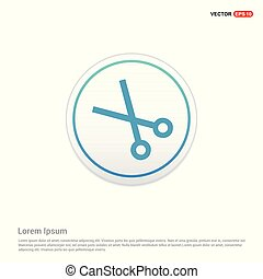 Scissors icon - white circle button