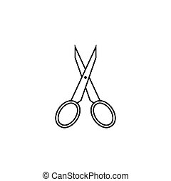 Scissors line icon, tailor and school element