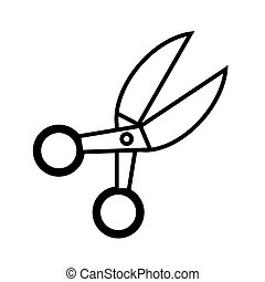 Scissors line icon. vector illustration isolated on white. outline style design, designed for web and app. Eps 10