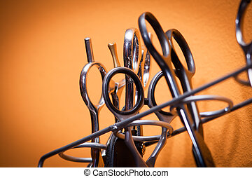 Scissors of professional hair stylist