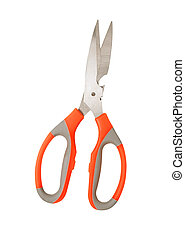 scissors on a white background
