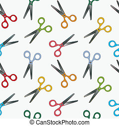 scissors pattern, abstract seamless texture; vector art...