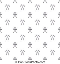 Scissors pattern seamless