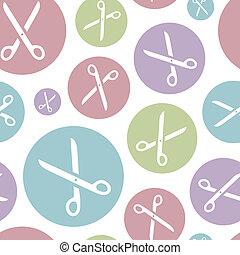 Scissors. Seamless pattern.