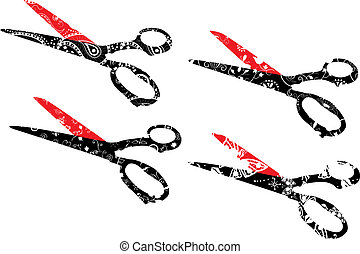 Scissors set vector illustration