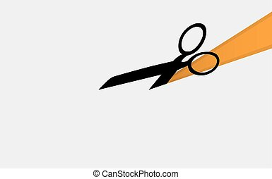 Scissors silhouette on a paper background