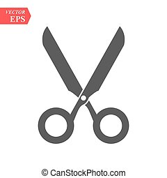 Scissors symbol isolated on white background