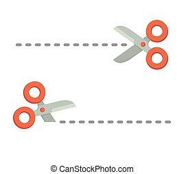 Scissors symbol set