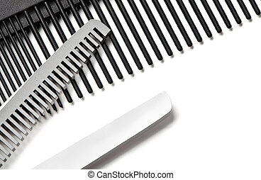 Scissors, Thinning shear on white background