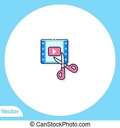 Scissors vector icon sign symbol