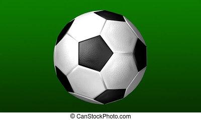 scoccer, прядение, мяч, 3d