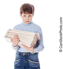 scolaro, presa a terra, carte