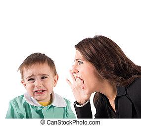 Scold a child