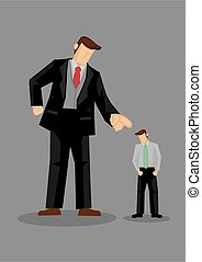 Scolded by Big Boss Vector Illustration - Giant cartoon man ...