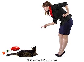 Scolding Naughty Cat