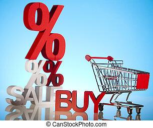scontare, vendita, collezione
