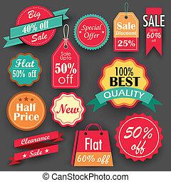 scontare, vendita, etichette