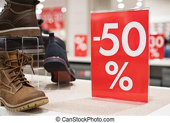 sconti, in, il, shopping, center., 50, percento, discount.