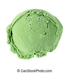 Scoop ice cream - Scoop of ice cream on white background,...