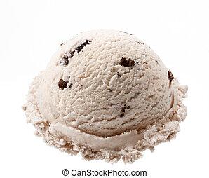 cookies ice cream - scoop of cookies ice cream isolated on...