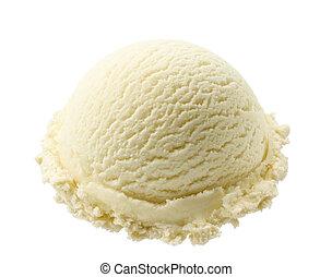 vanilla ice cream - scoop of vanilla ice cream isolated on...
