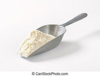 scoop of wheat flour