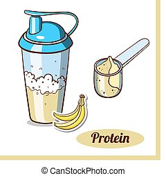 Scoop Protein Shaker Banana