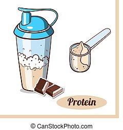 Scoop Protein Shaker Chocolate