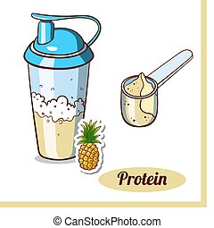Scoop Protein Shaker Pineapple