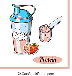 Scoop Protein Shaker Strawberry
