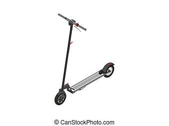 scooter., électrique