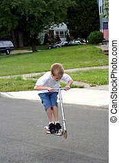 Scooter Boy In Air