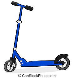 scooter, dessin animé