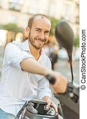 scooter, homem