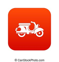 Scooter icon digital red