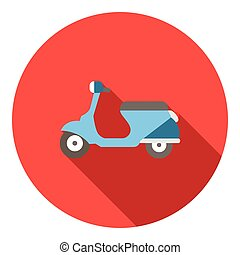 Scooter icon, flat style