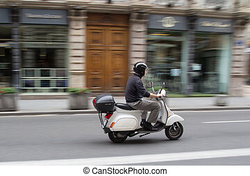 Scooter in the City