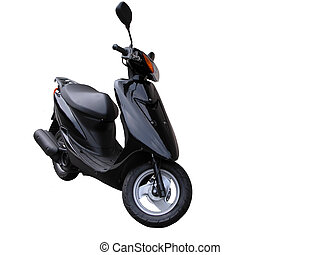 Scooter isolated over white background