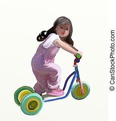 scooter, meisje